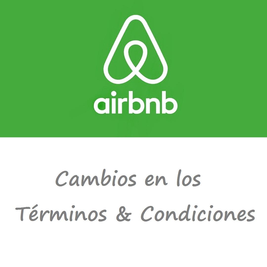 Airbnb. Cambios en los términos y condiciones